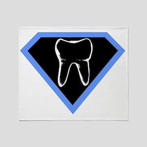 super-dentist-shirt Throw Blanket
