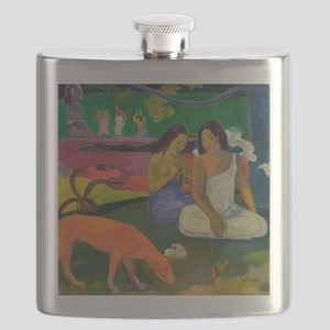 Arearea (The Red Dog) by Paul Gauguin Flask