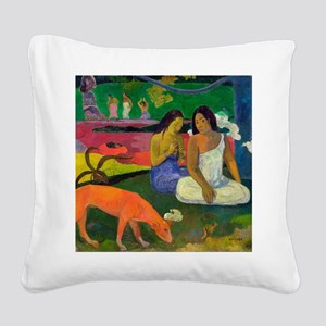 Arearea (The Red Dog) by Paul Square Canvas Pillow
