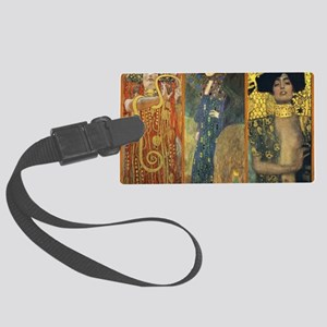 Gustav Klimt - Strong Women Large Luggage Tag