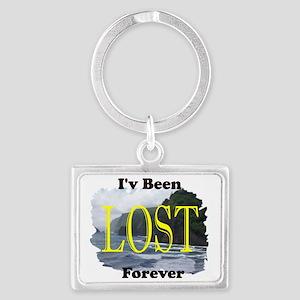 lost island lg Landscape Keychain