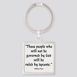 w_p_ruled_by_tyrants Square Keychain