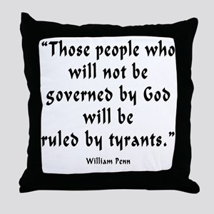 w_p_ruled_by_tyrants Throw Pillow