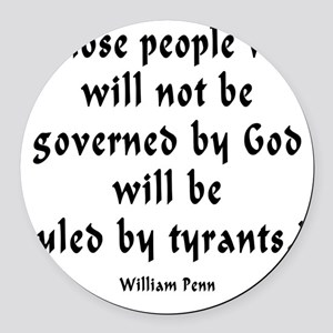 w_p_ruled_by_tyrants Round Car Magnet