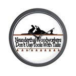 Neanderthal Woodworkers Wall Clock