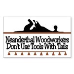 Neanderthal Woodworkers Rectangle Sticker