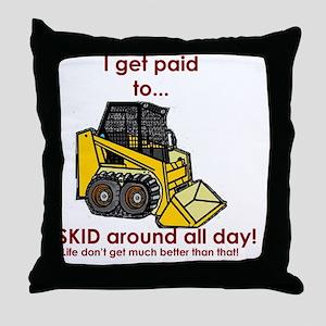 Skid Around Throw Pillow