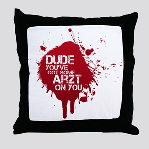 ArztSplat01 Throw Pillow