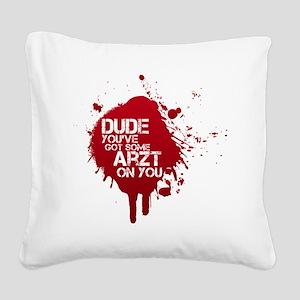 ArztSplat01 Square Canvas Pillow