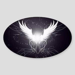 2-wings2.5 Sticker (Oval)