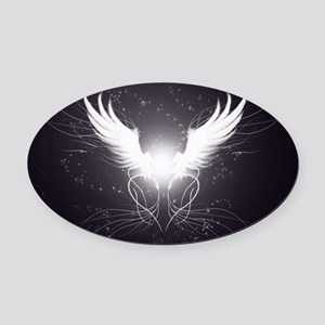 2-wings2.5 Oval Car Magnet