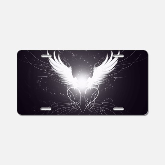 2-wings2.5 Aluminum License Plate