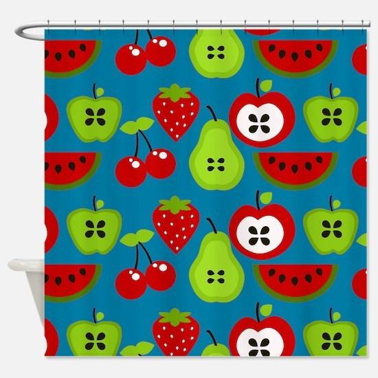 Retro Fruits Shower Curtain