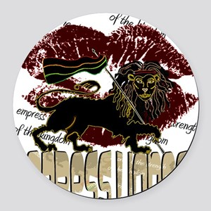 lioness2-1 Round Car Magnet
