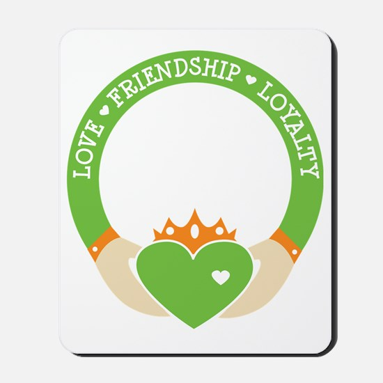 Love, Friendship, Loyalty Ring Mousepad