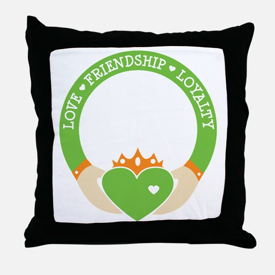 Love, Friendship, Loyalty Ring Throw Pillow