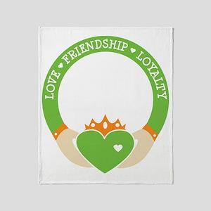Love, Friendship, Loyalty Ring Throw Blanket