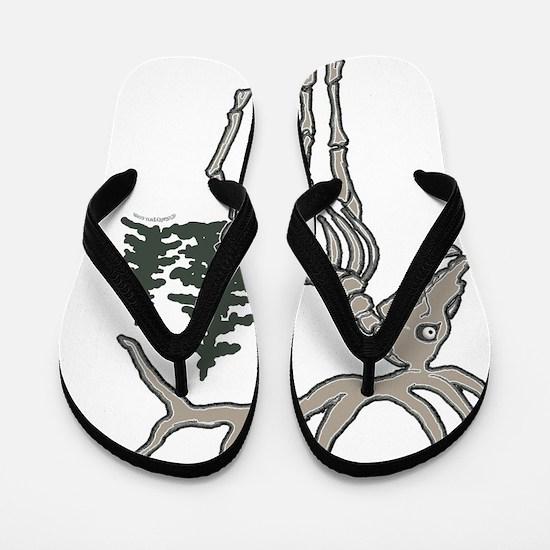 elk bones Flip Flops