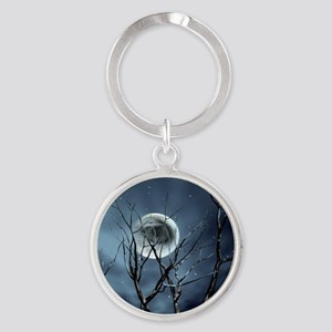 view in the night Keychains