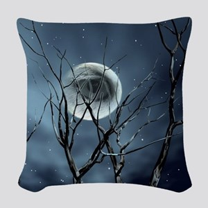 view in the night Woven Throw Pillow