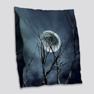 view in the night Burlap Throw Pillow