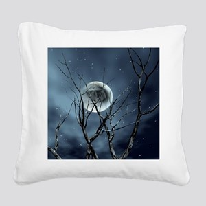 view in the night Square Canvas Pillow