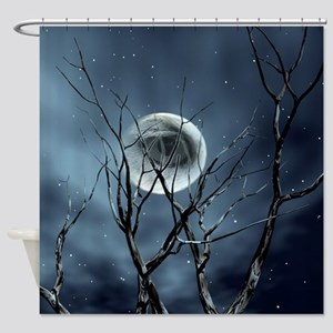 View In The Night Shower Curtain