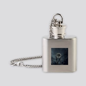 view in the night Flask Necklace