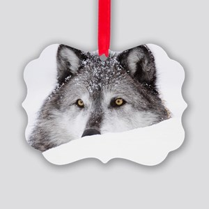 wolf x14 Picture Ornament