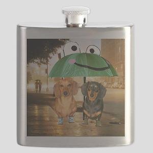 tig lil rain16x16 Flask