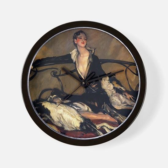 Jean Gabriel 1930 Oil Wall Clock