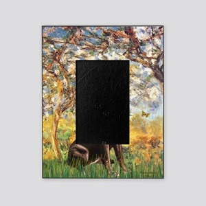 Spring - Chocolate Lab 11 Picture Frame