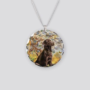 Spring - Chocolate Lab 11 Necklace Circle Charm