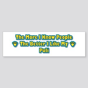 Like My Puli Bumper Sticker