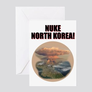 nuke noth korea Greeting Card