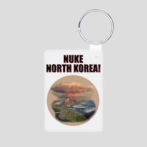 nuke noth korea Aluminum Photo Keychain