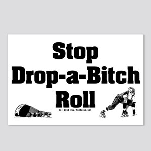 derby_stop_drop_roll_b Postcards (Package of 8)
