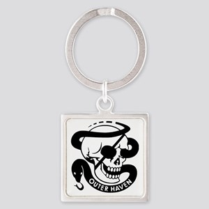 mgs-outerhaven-b Square Keychain