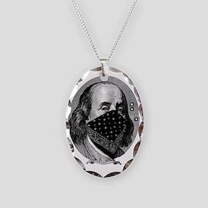 president-franklin Necklace Oval Charm