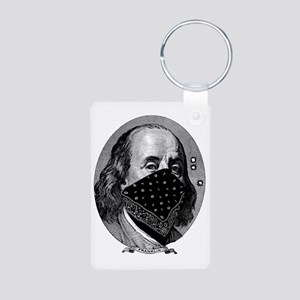 president-franklin Aluminum Photo Keychain