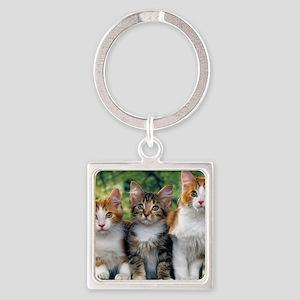 Tthree_kittens 16x16 Square Keychain