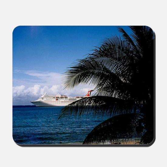 Carnival docked at Grand Cayman Mousepad