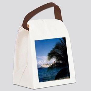 Carnival docked at Grand Cayman Canvas Lunch Bag
