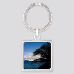Carnival docked at Grand Cayman Square Keychain