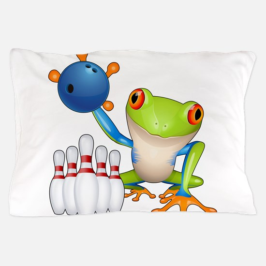 Bowling Tree Frog Pillow Case