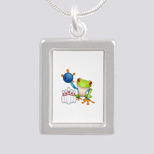 Bowling Tree Frog Necklaces