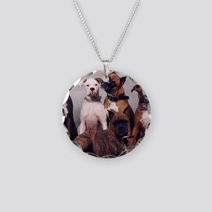 five boxers16x12 Necklace Circle Charm