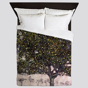 The Apple Tree II by Gustav Klimt Queen Duvet