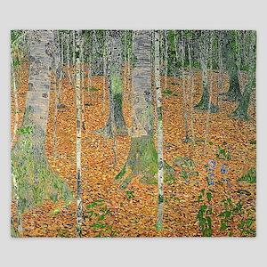 The Birch Wood by Gustav Klimt King Duvet