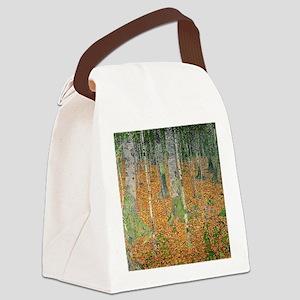 The Birch Wood by Gustav Klimt Canvas Lunch Bag